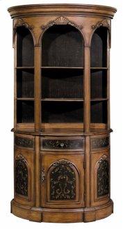 Tall Demilune Bookcase Black / Woodtone Product Image
