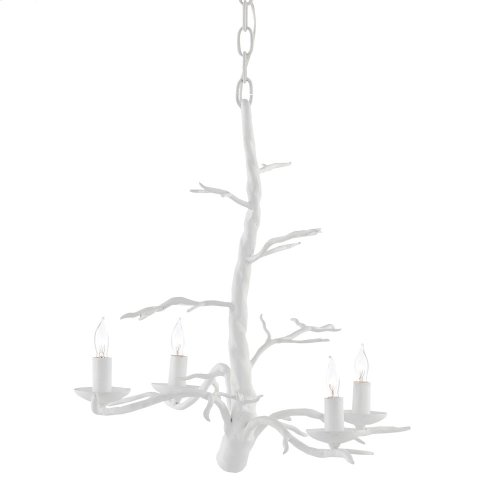 Treetop White Small Chandelier