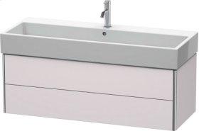 Vanity Unit Wall-mounted, White Lilac Satin Matt Lacquer