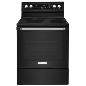 Kitchenaid30-Inch 5-Element Electric Convection Range - Black