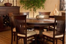 "60"" Solid Top 5/4 Thick Top Pedestal Table"