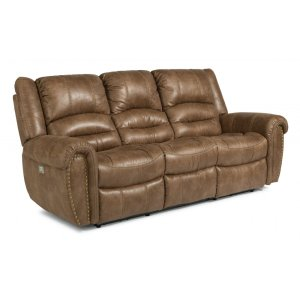 FlexsteelTown Power Reclining Sofa with Power Headrests