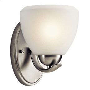 Calleigh 1 Light Wall Sconce Brushed Nickel