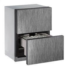 """Modular 3000 Series 24"""" Solid Refrigerator Drawers With Integrated Solid Finish and Drawers Door Swing (115 Volts / 60 Hz)"""