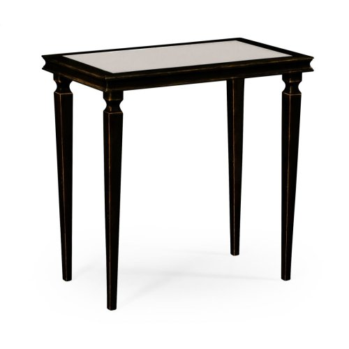 Italian Bronze Rectangular Side Table