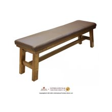 Breakfast Bench w/bonded Leather seat
