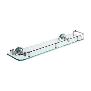"Polished Chrome 24"" Gallery Rail Shelf"