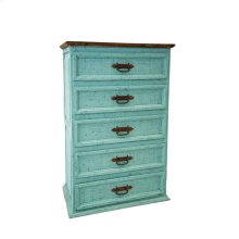 Turquoise 5 Drawer Chest