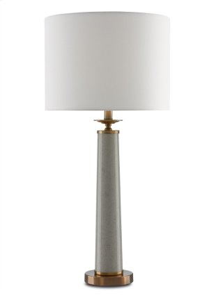Rhyme Table Lamp, Gray - 32.75h