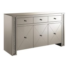 Contemporary Silver and Black Cabinet
