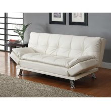 Dilleston Contemporary White Sofa Bed