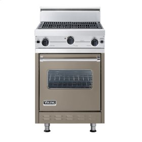 "Stone Gray 24"" Char-Grill Companion Range - VGIC (24"" wide range with char-grill, single oven)"