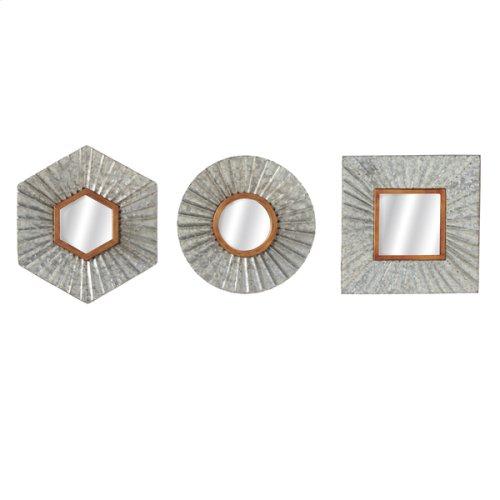Corrugated Galvanized Accent Mirror (3 asstd)