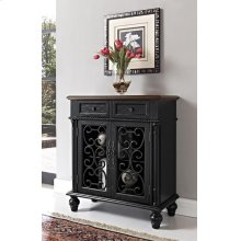 Shabby Black 2 Drawer, 2 Door Console