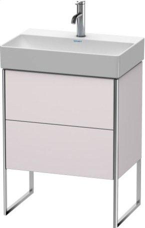 Vanity Unit Floorstanding Compact, White Lilac Satin Matt Lacquer