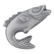Fish Knob 2 1/4 Inch - Pewter