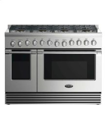"48"" Gas Range: 8 Burners"