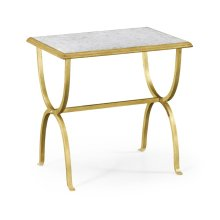 glomise & Gilded Iron Rectangular Side Table