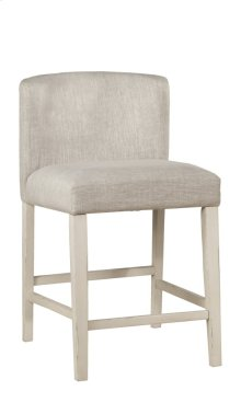 Clarion Non-swivel Wing Arm Counter Height Stool - Sea White - Set of 2