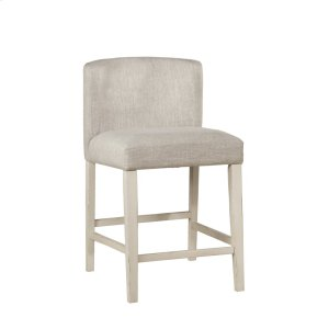 Hillsdale FurnitureClarion Non-swivel Wing Arm Counter Height Stool - Sea White - Set of 2