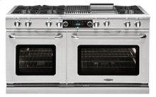 "Connoisseurian 60"" Dual Fuel Self Clean Range"