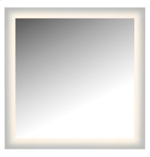 "LED lighted mirror wall glowed style frosted glass. 36""H x 36""W. CRI: 81"