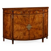Crotch Walnut Demilune Sideboard
