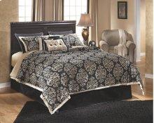 Esmarelda - Dark Merlot 4 Piece Bed Set (Queen)