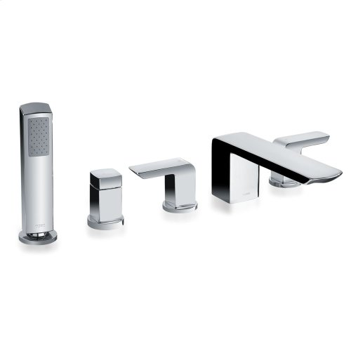 Soirée® Deck-Mount Bath Faucet with Handshower and Diverter - Brushed Nickel