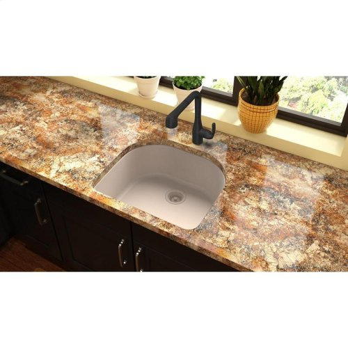 "Elkay Quartz Classic 25"" x 22"" x 8-1/2"", Single Bowl Undermount Sink, Putty"