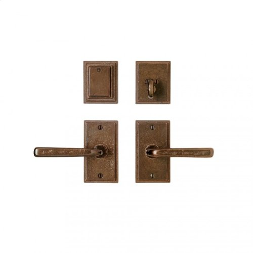 """Stepped Entry Set - 2 1/2"""" x 4 1/2"""" Silicon Bronze Brushed"""