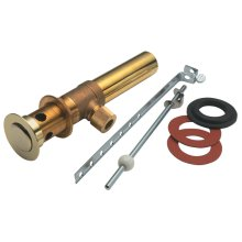 Standard Lavatory Lift Rod Style Pop-Up Drain - Polished Brass