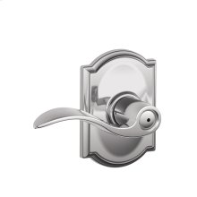 Accent Lever with Camelot trim Bed & Bath Lock - Bright Chrome