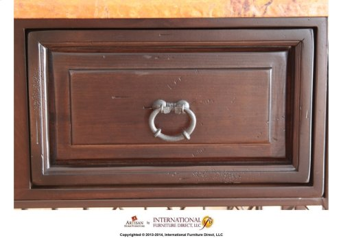 Wine Cabinet w/ Copper Top & 2 drawers