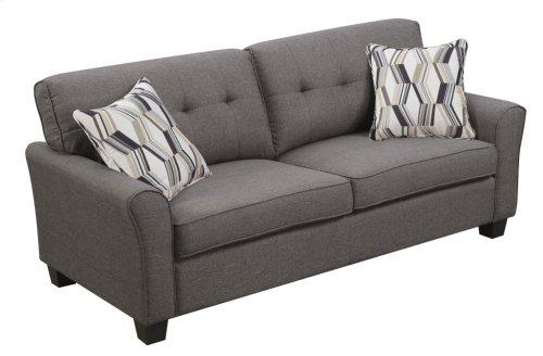 Emerald Home Clarkson Sofa W/2 Accent Pillows Espresso U3470-00-05