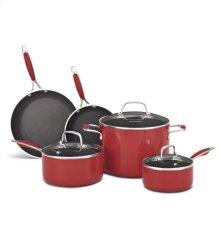 KitchenAid Aluminum Nonstick 8-Piece Set - Empire Red
