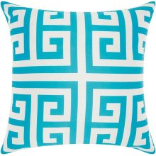 "Outdoor Pillow As047 Turquoise 20"" X 20"" Throw Pillow"