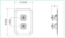 Waldorf 2500 Thermo Valve Trim (3 Outlets) - Polished Chrome