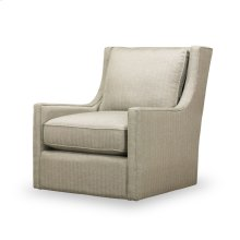 Hugo Swivel Chair - Herringbone Silver