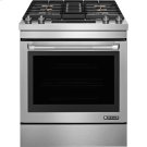 "30"" Dual-Fuel Downdraft Range, Pro-Style® Stainless Handle Product Image"