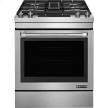 "30"" Dual-Fuel Downdraft Range, Pro-Style® Stainless Handle"