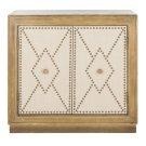 Erin 2 Door Chest - Rustic Oak Linen / Copper / Mirror Product Image