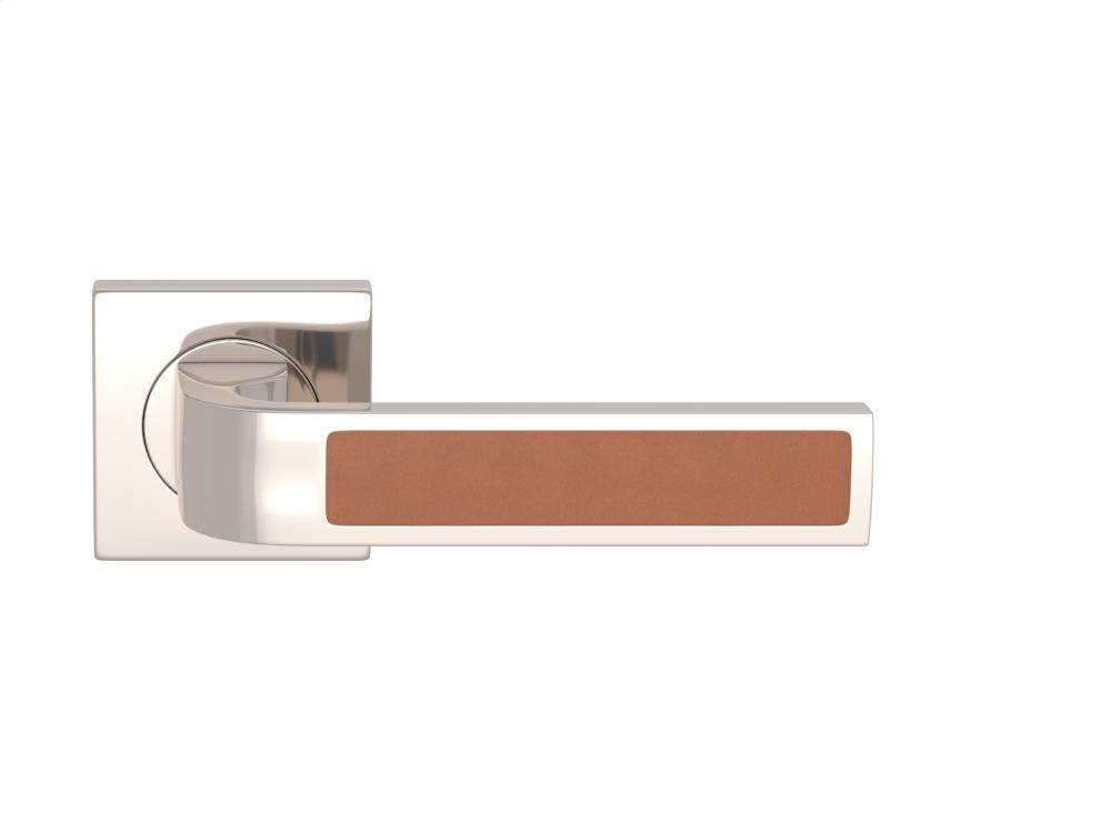 Ski Recess Leather In Tan And Polished Nickel