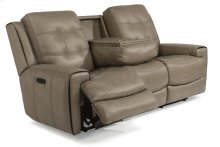 Wicklow Leather Power Reclining Sofa with Power Headrests