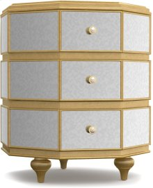 Bewitch Mirrored Octagonal Nightstand