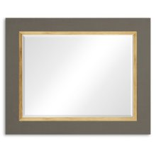"Slate & Gold ""Homespun"" Mirror"