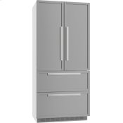 FrenchDoor Bottom-mount Units maximum convenience thanks to generous large capacity and ice maker.