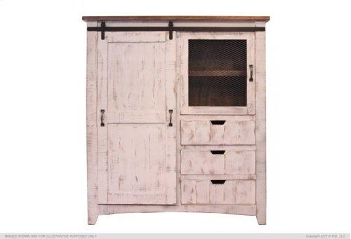3 Drawer, 1 Sliding door, 1 Mesh door Gentleman's Chest