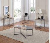 Emerald Home Rubix End Table W/silver Metal Base T570-1