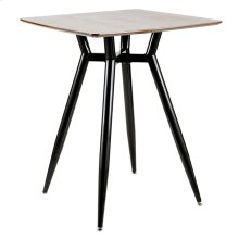 Clara Square Counter Table - Black Metal, Walnut Wood